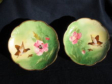 LIMOGES   STUDIO ARTIST PAINTED  PLATES