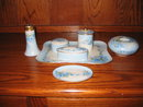LIMOGES H. PAINTED DRESSER SET