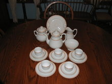 EARLY  CFH  LIMOGES  DESSERT SET