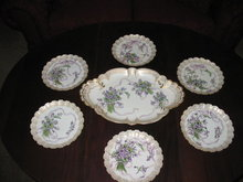 HAVILAND LIMOGES ICE CREAM SET