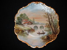 HAND PAINTED LIMOGES PLACQUE