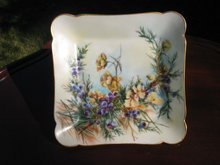 EARLY LIMOGES  H. PAINTED  PLATE