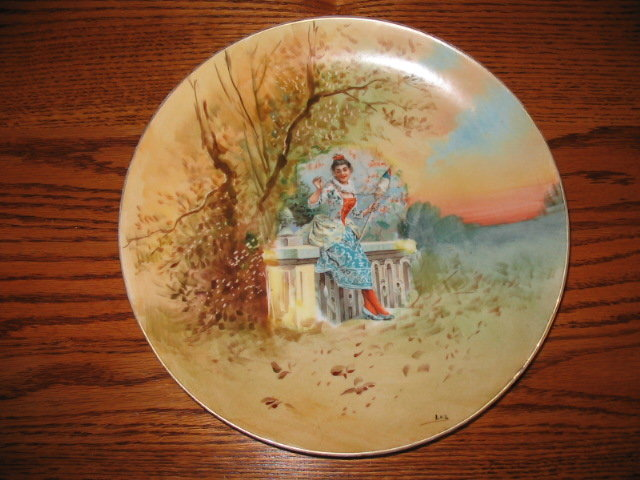 LIMOGES SIGNED STUDIO ARTIST  PLACQUE