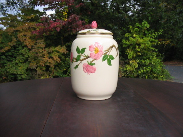 FRANCISCAN WARE DESERT ROSE  COOKIE JAR