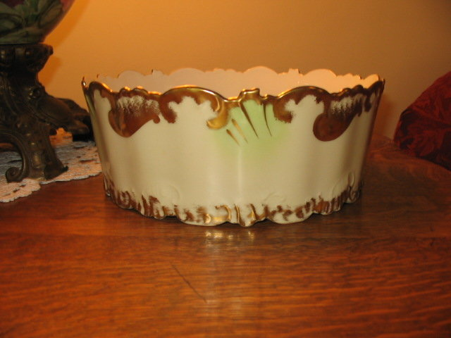 LIMOGES HAND PAINTED PLANTER/ FERNIER