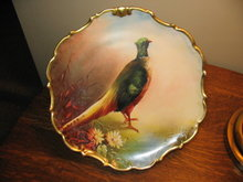 LIMOGES STUDIO DECORATED PHEASANT  PLACQUE
