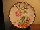 FAMOUS LIMOGES ARTIST ROSE PLATE