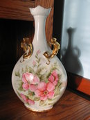H. PAINTED J.P. LIMOGES ROSE VASE