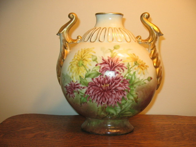 EARLY  ARTIST SIGNED LIMOGES VASE