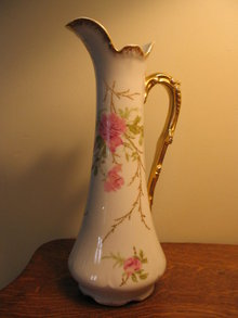 HAND PAINTED LIMOGES TANKARD