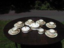 H.  P. LENOX  BELEEK  TEA SET W/ROSES