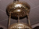 PITTSBURGH  ROSES HANGING VIC. LAMP