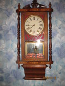 WATERBURY ANGLO INLAID WALL CLOCK