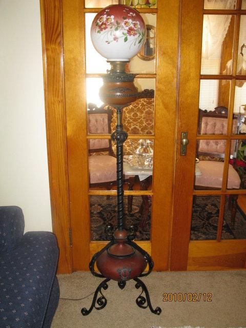 BRADLEY AND HUBBARD  PIANO LAMP