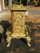 Antique 1848 cast iron parlor stove