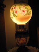 Lg. Hand Painted Gone with the Wind Lamp