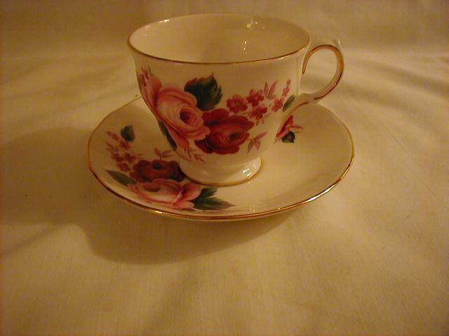 Queen Anne Cup and Saucer, Patt No 8523
