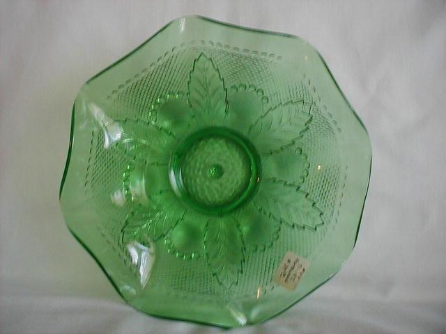 Northwood green glass bowl