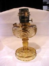 Washington Drape Clear amber Kerosene Lamp