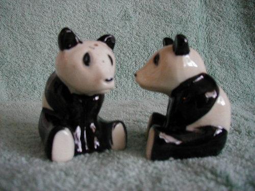 Pandas Salt and Pepper Shakers