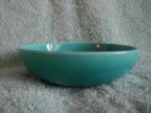 Harlequin Turquoise deep soup bowl