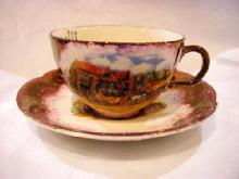 Lustre cup and saucer