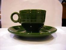 Fiesta Forest Green cup and saucer