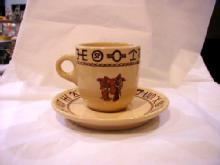 Boots and Saddle large cup and saucer