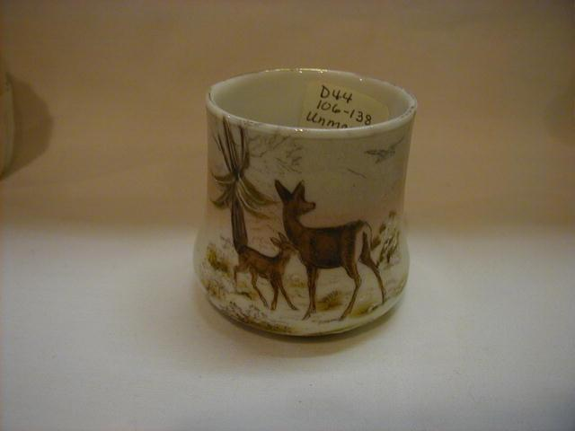 Unmarked Hand Painted (Deer) China Toothpick Holder