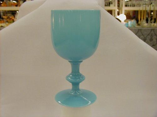 Provenial Blown Turquoise Blue water goblet, set of 6