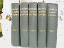 Gibbon's Roman Empire in Five Volumes