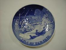 Christmas plate,1970,Pheasants in Snow