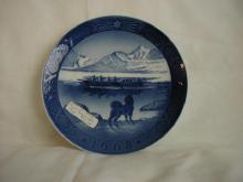 Christmas plate, 1968, Last Umiak