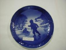 Christmas plate, 1965, Little Skaters