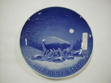 Christmas plate, 1962, Winter Night