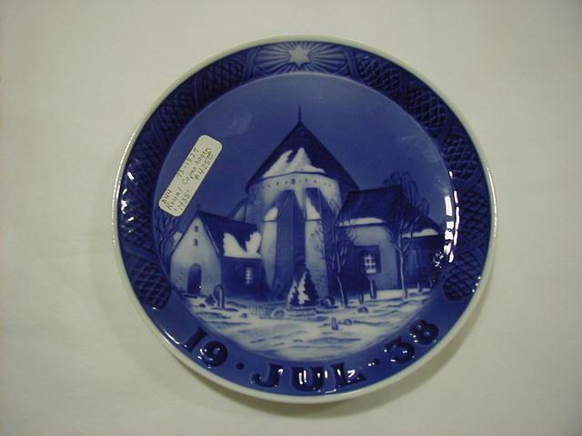 Christmas plate, 1938, The Round Church in Osterlar
