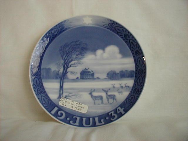 Christmas plate, 1934, The Hermitage Castle