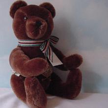 Hermann - 30cm Chocolate Bear w/Growler