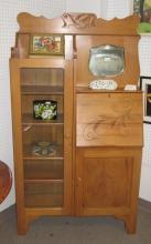 American Oak Side by Side Secretary/Bookcase
