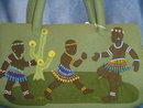 Black Americana:  Felt & Bead African Purse