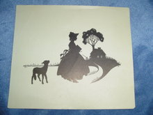 WALLACE NUTTING - MARY & LAMB SILHOUETTE