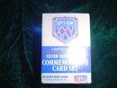 SUPER BOWL XXV SILVER ANNIVERSARY CARD SET