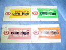 CARE FREE GUM - TIN DISPLAY INSERTS