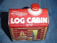 100TH ANNIVERSARY LOG CAB SYSRUP CONTAINER