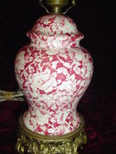 ENGLISH - FLORAL CHINTZ TABLE LAMP