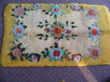MULTI-COLOR  FLORAL MOTIF SHAG  RUG