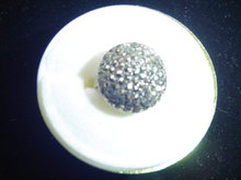 SS/MARCASITE DOME STYLE RING