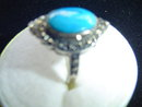 SS/MARCASITE/TURQUOISE RING