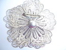 MEXICAN SS FILAGREE FLOWER MOTIF PIN