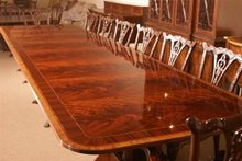 American Hand Crafted Large Dining Conference Table 28 Ft Long MSRP $28K Superb